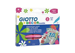 Flomasteri za tekstil GIOTTO DECOR textile - 6 boja