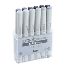 Flomasteri COPIC Sketch Cool Grey - set od 12 kom
