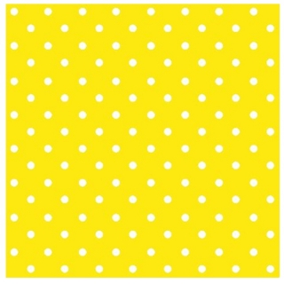 Salvete za dekupaž Yellow Dots - 1 komad