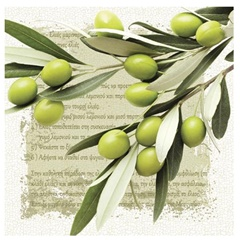 Salveta za dekupaž Greek Olives - 1 kom